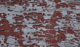Fondo di legno ripreso rustico rosso della parete fotografia stock libera da diritti