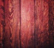 Fondo di legno rosso Fotografia Stock