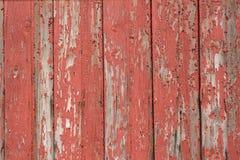 Fondo di legno rosso Fotografie Stock
