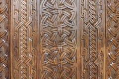 Fondo di legno scolpito Fotografia Stock