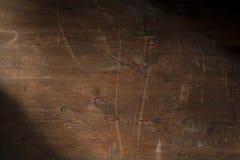 Fondo di legno scuro d'annata Fotografia Stock