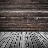 Fondo di legno scuro vuoto astratto della stanza fotografia stock