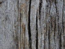 Fondo di legno spazzato tempo incrinato Fotografia Stock Libera da Diritti