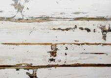 Fondo di legno stagionato bianco, fuoco selettivo Fotografia Stock Libera da Diritti