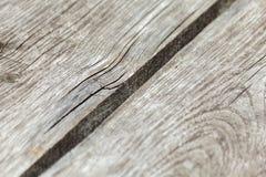 Fondo di legno stagionato grigio annodato naturale di struttura della plancia fotografia stock libera da diritti
