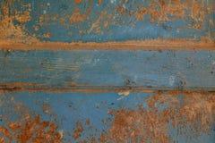 Fondo di legno di superficie astratto di struttura della tavola Parete di Bluerustic fatta di vecchio legno fotografie stock