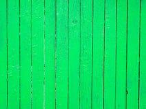 Fondo di legno verde del recinto Fotografie Stock