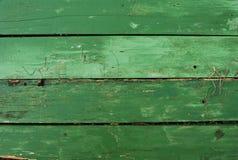 Fondo di legno verde della plancia naturale Fotografie Stock