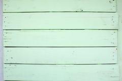 Fondo di legno verde di struttura della parete Fotografia Stock