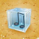 Fondo di lerciume con il cubetto di ghiaccio Fotografia Stock Libera da Diritti