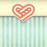 Fondo di lerciume con l'illustrazione dell'emblema del cuore Fotografia Stock Libera da Diritti