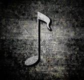 Fondo di lerciume con la nota di musica Immagine Stock