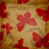 Fondo di lerciume con le farfalle. Illustrazione Vettoriale