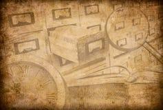 Fondo di lerciume dell'archivio, del museo o delle biblioteche illustrazione di stock