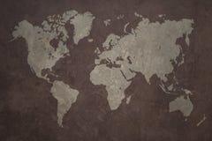 Fondo di lerciume della mappa di mondo Fotografia Stock Libera da Diritti