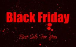 Fondo di lerciume della pittura di vettore per la vendita di Black Friday Immagini Stock Libere da Diritti