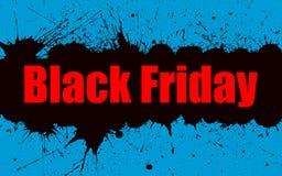 Fondo di lerciume della pittura di vettore per la vendita di Black Friday Immagine Stock Libera da Diritti