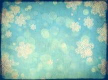 Fondo di lerciume di Natale con i fiocchi di neve royalty illustrazione gratis