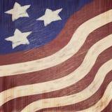 Fondo di lerciume di sguardo graffiato stelle e strisce patriottico di U.S.A. di sembrare del gesso Fotografia Stock