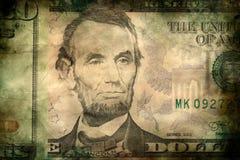 Fondo di lerciume di struttura delle banconote dei soldi del dollaro di U.S.A. Immagini Stock Libere da Diritti
