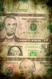 Fondo di lerciume di struttura delle banconote dei soldi del dollaro di U.S.A. Immagini Stock
