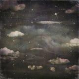 Fondo di lerciume di un cielo notturno con le nuvole Fotografie Stock