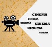 Fondo di lerciume Retro proiettore di film, fondo di film Illustrazione con spazio per testo Vettore illustrazione vettoriale