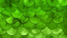 Fondo di lerciume di verde dello squame del pesce dell'acquerello delle scaglie della sirena illustrazione di stock
