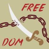 Fondo di libertà Fotografie Stock Libere da Diritti