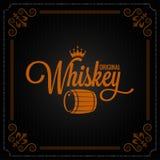 Fondo di logo di progettazione dell'etichetta del barilotto del whiskey royalty illustrazione gratis