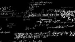 Fondo di Loopable con le formule di per la matematica video d archivio