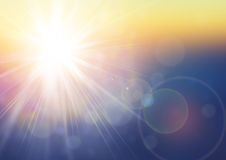 Fondo di luce solare Fotografie Stock Libere da Diritti
