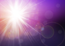 Fondo di luce solare Fotografie Stock