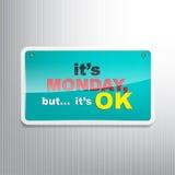 Fondo di lunedì Fotografia Stock