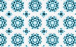Fondo di lusso blu astratto del modello del cerchio illustrazione vettoriale