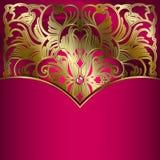 Fondo di lusso con l'ornamento dell'oro. Fotografie Stock
