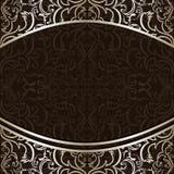 Fondo di lusso decorato da argento ornamentale b Fotografie Stock