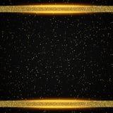 Fondo di lusso dell'oro e del nero Progettazione per la presentazione, concerto, manifestazione illustrazione vettoriale