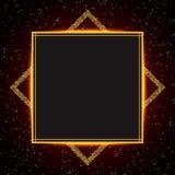 Fondo di lusso dell'oro e di rosso Progettazione per la presentazione, concerto, manifestazione illustrazione di stock