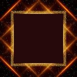 Fondo di lusso dell'oro e di rosso Progettazione per la presentazione, concerto, manifestazione illustrazione vettoriale