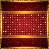 Fondo di lusso dell'oro e di rosso Progettazione per la presentazione, concerto, manifestazione royalty illustrazione gratis