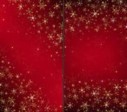 Fondo di lusso rosso della cartolina di Natale Fotografia Stock Libera da Diritti
