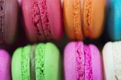 Fondo di Macaron, fine su Fotografie Stock