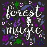 Fondo di magia della foresta Fotografie Stock