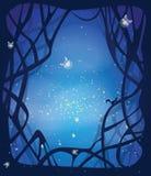 Fondo di magia di notte Immagini Stock