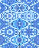 Fondo di Mandala Tile Pattern Ogee Blue Immagine Stock