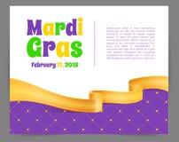 Fondo di Mardi Gras con il nastro Fotografia Stock