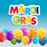 Fondo di Mardi Gras Party Holiday Poster Illustrazione di vettore Immagine Stock