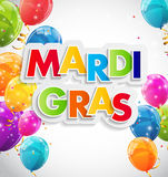Fondo di Mardi Gras Party Holiday Poster Illustrazione di vettore Immagini Stock