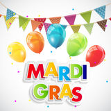 Fondo di Mardi Gras Party Holiday Poster Illustrazione di vettore Fotografia Stock Libera da Diritti